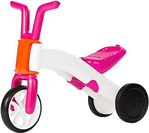 Chillafish BUNZI: 2-in-1 Gradual Balance Bike and Tricycle, Pink (1 2 Inch Kids Pedals)
