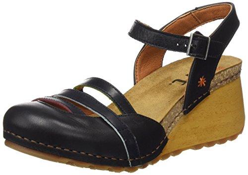 Art Women's 1323 Memphis Borne Closed Toe Sandals, Brown Black (Black Black)