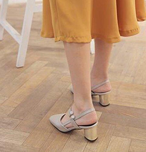Sandali Con Tacco Medio Alla Caviglia Con Cinturino Alla Caviglia Donna Easemax Argento