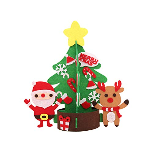 BESTOYARD Árbol de Navidad no Tejido de Gran tamaño con Adornos Desmontables para niños