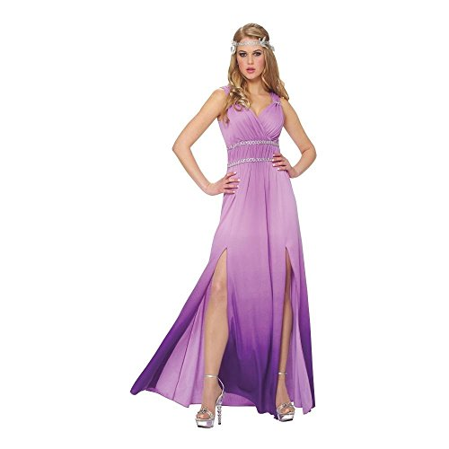 Womens Lilac Goddess Adult Greek Costume Large Size (Aphrodite Costume Shoes)