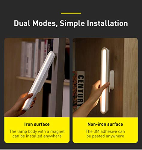 Aimuli Night Light of Book / Reading Led Lights Bar Wireless Closet Lights with Magnetic Touch Table / Desk Lamp Battery Powered Led Strip Light Barfor Reading in Bed / Under Cabinet Lighting/Bulbs