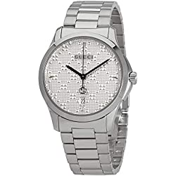 04d3a80dcd1 Gucci G-Timeless Diamante Silver Dial Ladies Watch YA1264024