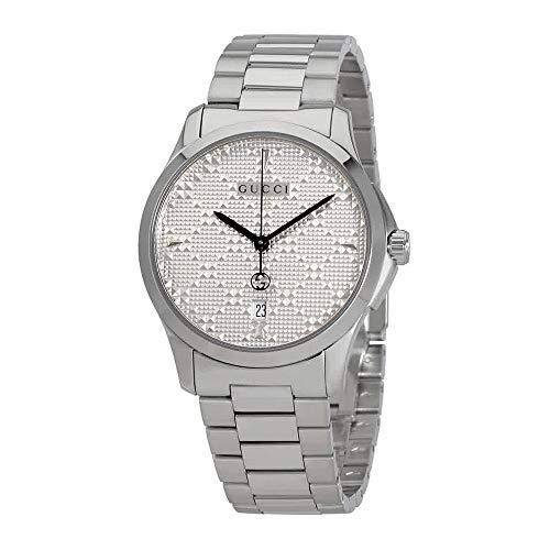 Gucci G-Timeless Diamante Silver Dial Ladies Watch YA1264024