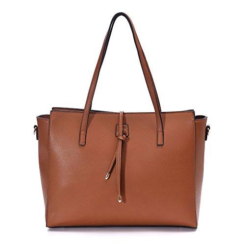 Women Leather Totes Crossbody Bag Shoulder Purse Large Handbags Fit 13-inch Laptop