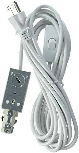 Track Power Feed Accessory - Lithonia Lighting LTLECS M6 Linear White Track Lighting Live-End Power Feed (Renewed)