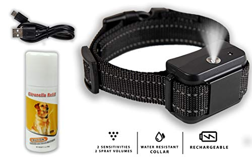 Downtown Pet Supply Citronella Anti-Bark Collar No Barking Safe & Humane Dog Training Collar for Small, Medium, and Large Pets