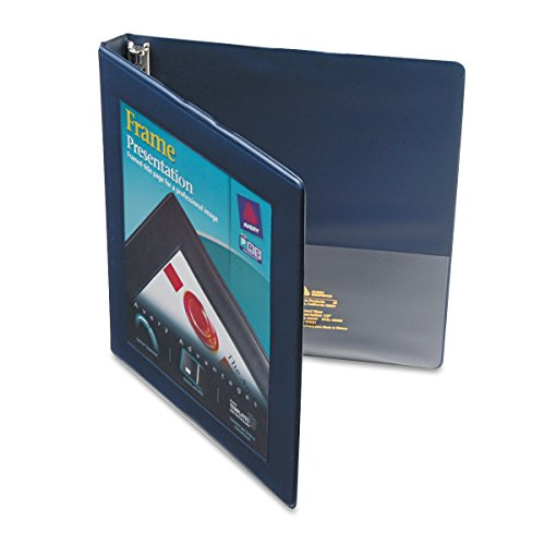 Avery Framed Presentation Non Locking Slant Ring View Binder, 0.5