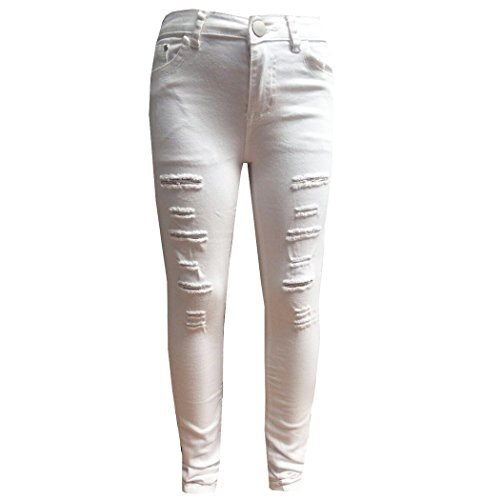 b6d9440b3c4 Minx Girls Stretchy Jeans Kids Jeggings Girls Ripped Skinny Pants Kids  Denim Jeans 5 6 7 8 9 10 11 12 Years - Buy Online in KSA. Clothing products  in Saudi ...