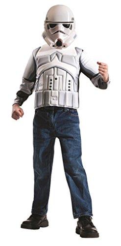 [Star Wars Rogue One Stormtrooper Costume Top Set - 2 Pieces - Fits Children 4-6] (Top 5 Halloween Costumes)