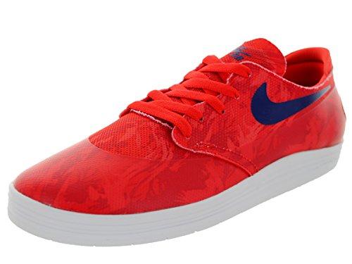 Nike Mens Lunar Oneshot Sb Wc Scarpa Da Skate Lt Crimson / Deep Royal