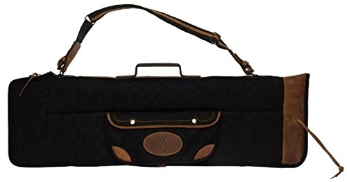 Browning 1413889912 Lona Canvas/Leather Over/Under Takedown Case, Black/Brown, 35