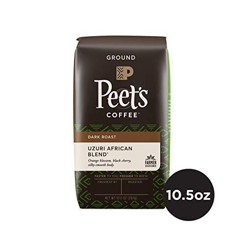 (Peet's Coffee Uzuri African Blend Dark Roast Ground Coffee, 10.5 Ounce Bag Sustainable Coffee from Rwanda Kenya Tanzania & Ethiopia)