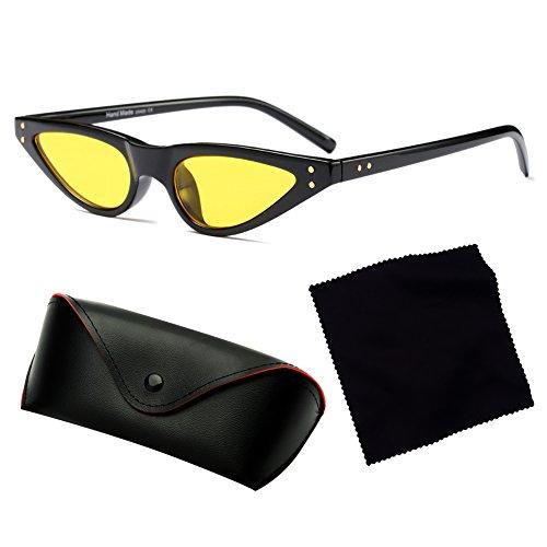 Eye Vintage Sunglasses C5 Cat Mujeres Sunglasses UV400 hibote Small wOtqUYOx7