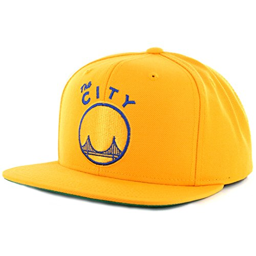 San Francisco Warriors Gold Mitchell & Ness Wool Snapback Hat / Cap