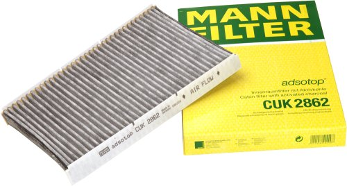 Beetle Air 2001 Volkswagen (Mann-Filter CUK 2862 Cabin Filter With Activated Charcoal for select  Audi/ Volkswagen models)