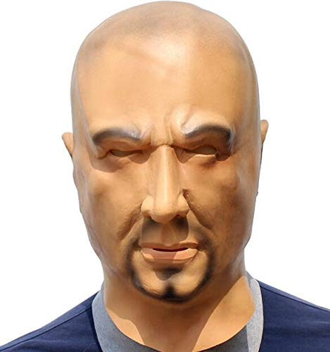 Huasen Halloween Tricky Mask Horror Guy Mask Cosplay Underworld Head Cover-Skin Color ()