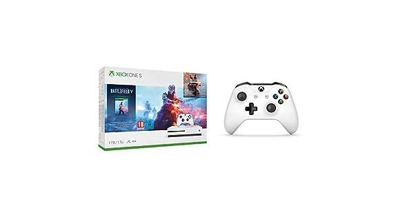 Microsoft Xbox One S - Consola 1 TB + Battlefield V + Microsoft - Mando Inalámbrico: Amazon.es: Videojuegos