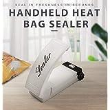 Sellador de bolsas de bocadillo portátil manual manual, mini máquina de sellado de mano para reseales de patatas fritas, bols