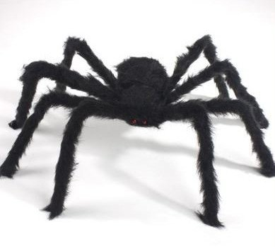 ASSIS Holloween Party Super Big Black Plush Spider Toys Tarantula Spider Plush Stuffed Animal,29.52 inches (Holloween Party Food)