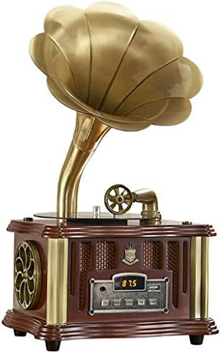 Antique Gramophone Retro Ornament European Solid Wood Record