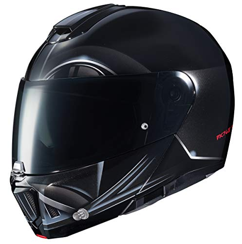 HJC Star Wars Unisex-Adult's Modular Darth Vader Graphic Motorcycle Helmet (Black, Large) - Graphic Replacement Visor