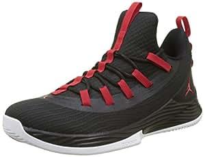 Nike Jordan Ultra Fly 2 Low Zapatos de Baloncesto Hombre, Negro (Black/University Red/White 001), 40 EU