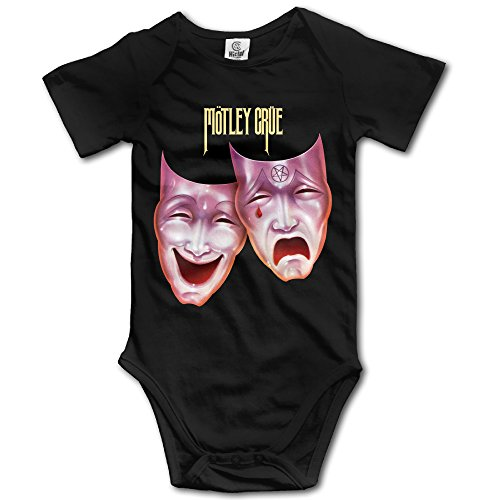 Ogbcom Baby's Motley Crue Logo Hanging Bodysuit Romper Playsuit Outfits Clothes Climbing Clothes Short Sleeve (Devil Outfit)