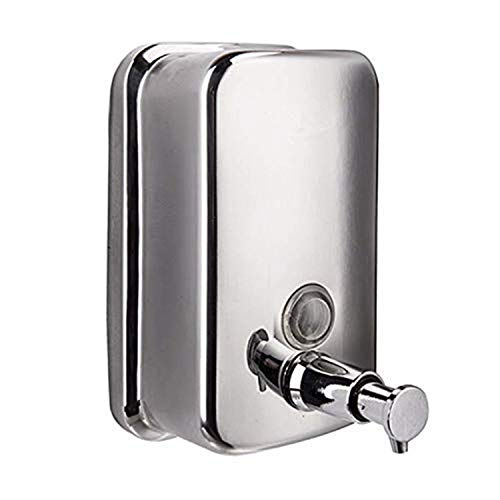800ML-29oZ Soap Dispenser, Classic Series Surface-Mounted Stainless Steel Manual Wall-Mount Soap Dispenser for Bathroom Kitchen Marketplace Hotel Restauran ()
