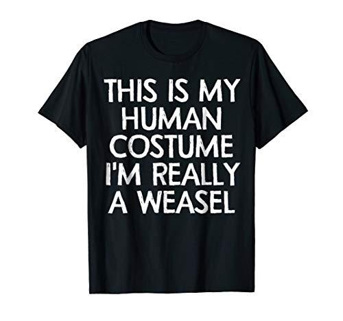 Weasle Human Costume Tshirt Halloween 2018 Tshirt Gift