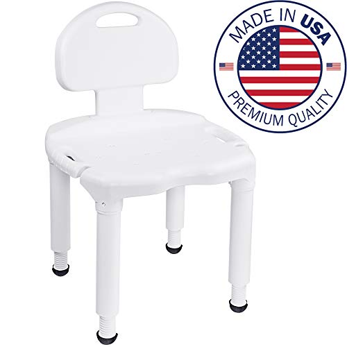 Medical Tool-Free Spa Bathtub Adjustable Shower Chair Seat Bench