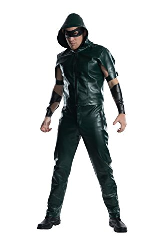 Charades Men's Licensed Arrow Hooded Shirt Costume, As As Shown, Medium -