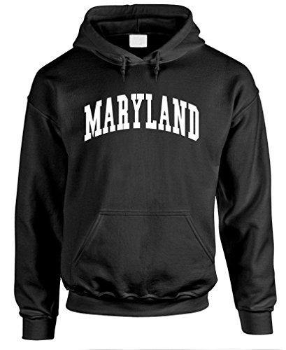 MARYLAND - usa america state pride patriotic - Mens Pullover Hoodie, S, Black