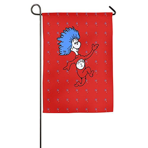 [Thing 1 Dr Seuss Garden Flag] (Welcome To The Black Parade Costume)