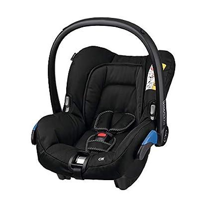 Maxi-Cosi Citi Babyschale, federleichter Baby-Autositz Gruppe 0+ (0-13 kg), nutzbar ab der Geburt bis ca. 12 Monate, Black Raven (schwarz) 1