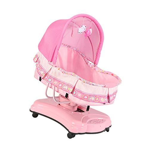 NMPA- Infant Bouncers Balance Electric Toddler Rocker Smart Shaker Music Comfort Chair Bluetooth Cradle Bed (Color : Pink)