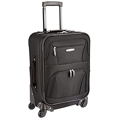 Rockland Luggage 19 Inch Expandable Spinner Carry On, Black, One Size