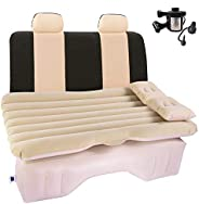 Car Air Mattress Travel Inflatable Back Seat Air Bed Cushion with Auto Pump and Two Pillows, Portable Camping
