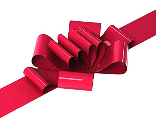 UrbanRed Big Red Car Bow | 23'' Car Bow Giant - Big Red Bow For Wedding, Christmas, Birthdays, Anniversaries, Graduation, Sweet 16 - Easy Assembly with Suction Cup by UrbanRed