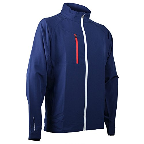 Sun Mountain Isotherm Jacket - Navy-White-Red (Sun Mountain White Jacket)
