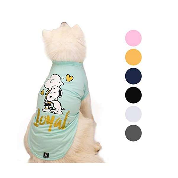 Zoozpets Snoopy Dog Shirt Clothes | Official Peanuts Licensee Dog Shirts in 7 Different Colors and Styles | Pet Apparel Dog t Shirt for Puppy, Small, Medium and Large Dogs 1