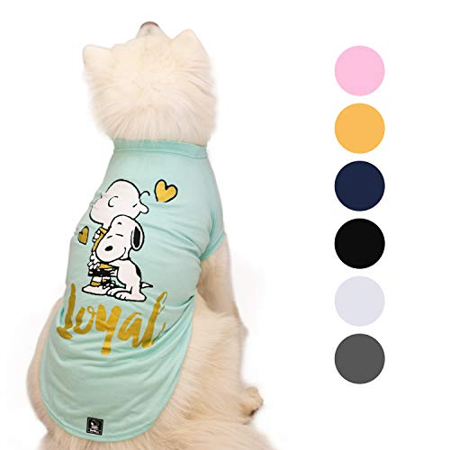 Zoozpets Snoopy Dog Shirt Clothes | Official Peanuts Licensee Dog Shirts in 7 Different Colors and Styles | Pet Apparel T-Shirts for Puppy's, Small, Medium and Large Dogs Tshirt