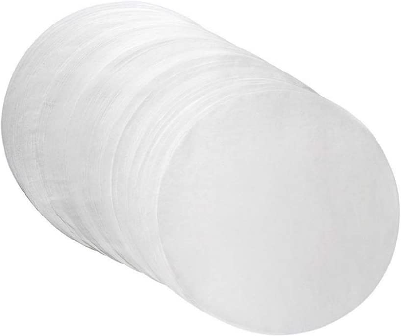 MOTZU Parchment Paper Baking Circles - 8 inch - 144 Pre-Cut Non-Stick Round Parchment Sheets for Baking Cakes, Cooking, Cookies, Cookies, Pastries, Dutch Oven, Air Fryer, Cheesecakes, Tortilla Press
