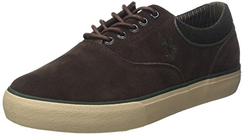 Uspolo Assn. Herren Sterling Suede Low-top Marrone (dark Brown) Su