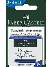Faber-Castell 201621 - wkłady atramentowe, 3 pudełka po 6 wkładów