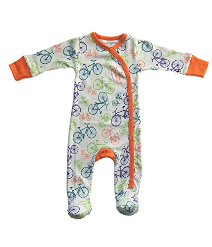 Cat & Dogma - Certified Organic Baby Clothing - Footie - Bicycle (18 - 24 Months)