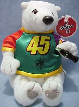 Coca Cola Bean Bag Plush NASCAR Driver Adam Petty (Nascar Driver Bean Bag)