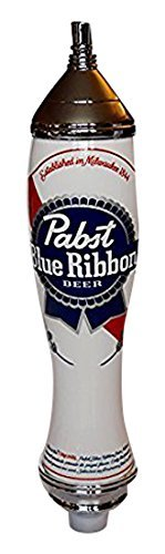 Pabst Blue Ribbon 2 Sided Acrylic & Chrome Tap Handle 12