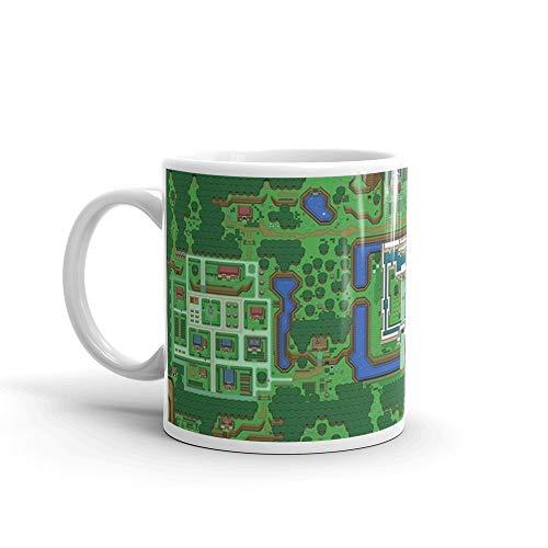 The Legend of Zelda: A Link to the Past Map Mug 11 Oz White Ceramic