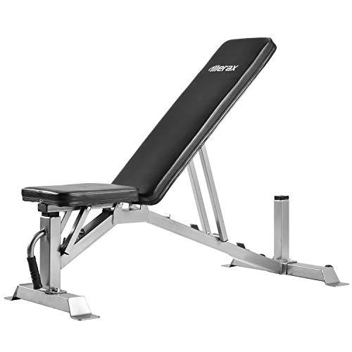Merax Adjustable Weight Bench – 5 Position Incline Utility Bench Gym Bench for Full Body Workout Multi-Purpose Bench for Home Gym Strength Training [800 LBS Weight Capacity]